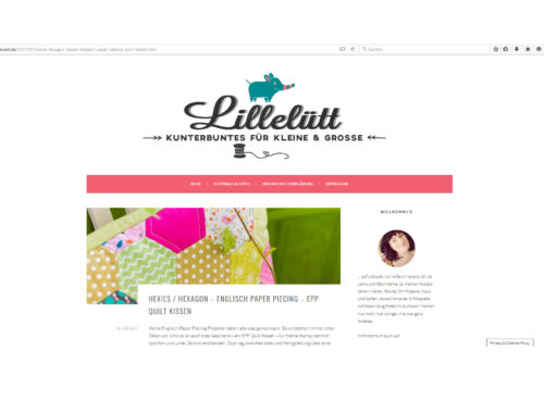 Referenz Webdesign - Lillelütt DIY Blog